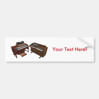 ヴィンテージのキーボード: 3Dモデル: バンパーステッカー