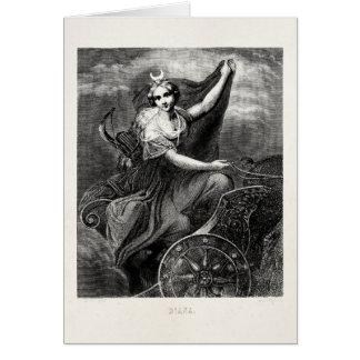 ヴィンテージのギリシャの女神のダイアナArtemisのローマの古代 カード