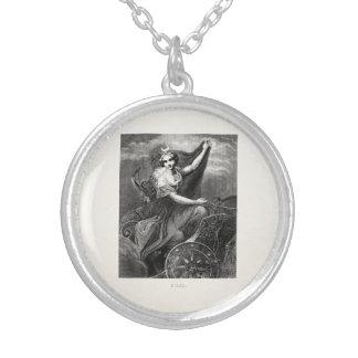 ヴィンテージのギリシャの女神のダイアナArtemisのローマの古代 シルバープレートネックレス