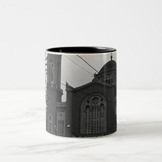 ヴィンテージのギリシャアテネ教会 ツートーンマグカップ