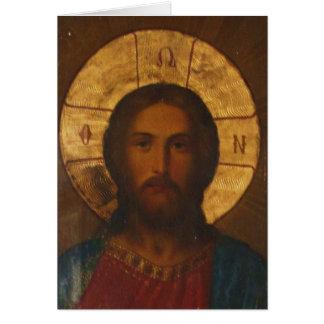 ヴィンテージのギリシャ正教アイコン カード