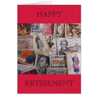 ヴィンテージのギリシャ語は幸せな退職カードを押します カード