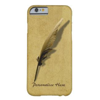 ヴィンテージのクイルペンと名前入り iPhone 6 ベアリーゼアケース