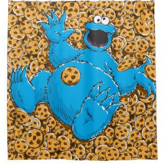 ヴィンテージのクッキーのモンスターおよびクッキー シャワーカーテン