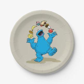 ヴィンテージのクッキーモンスターのごまかすこと ペーパープレート