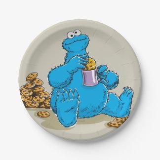 ヴィンテージのクッキーモンスターの食べ物のクッキー ペーパープレート