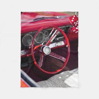 ヴィンテージのクラシックな自動車ハンドル フリースブランケット