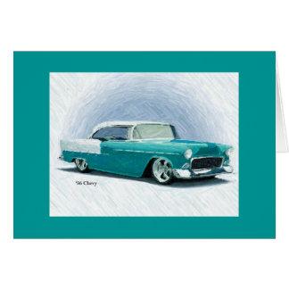 ヴィンテージのクラシックな車1956年のChevy Bel Airカード カード