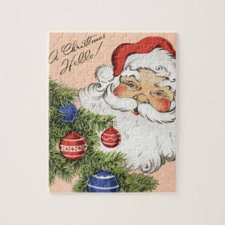 ヴィンテージのクリスマスこんにちは! すてきなサンタクロース ジグソーパズル