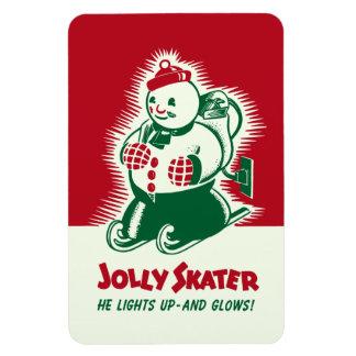 ヴィンテージのクリスマスのすてきなスケート選手の磁石 マグネット