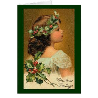 ヴィンテージのクリスマスのイメージ カード