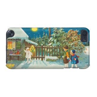 ヴィンテージのクリスマスのイラストレーション-子供および天使 iPod TOUCH 5G ケース