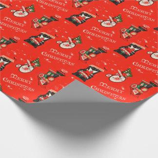 ヴィンテージのクリスマスのサンタクロースの包装紙 ラッピングペーパー