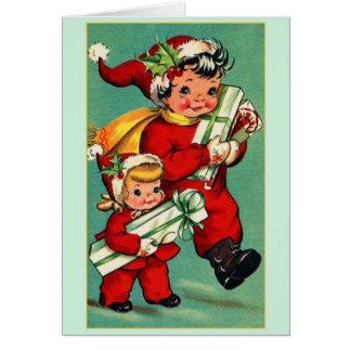 ヴィンテージのクリスマスのメッセージカード カード