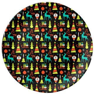 ヴィンテージのクリスマスの世紀半ばのレトロの磁器皿 磁器プレート