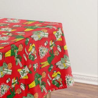 ヴィンテージのクリスマスの包装紙のデザインのテーブルクロス テーブルクロス