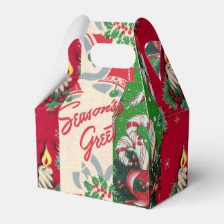 ヴィンテージのクリスマスの包装紙の好意箱 フェイバーボックス