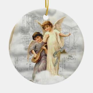 ヴィンテージのクリスマスの天使のオーナメント セラミックオーナメント