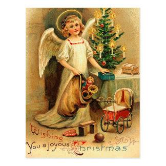 ヴィンテージのクリスマスの天使の郵便はがき はがき