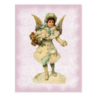 ヴィンテージのクリスマスの天使の郵便はがき ポストカード