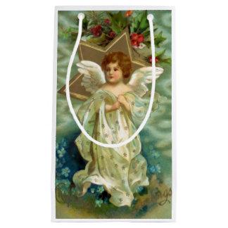 ヴィンテージのクリスマスの天使 スモールペーパーバッグ