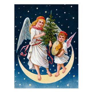 ヴィンテージのクリスマスの天使 ポストカード