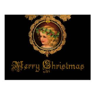 ヴィンテージのクリスマスの天使 葉書き