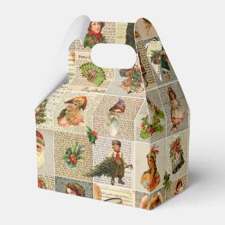 ヴィンテージのクリスマスの好意箱 フェイバーボックス