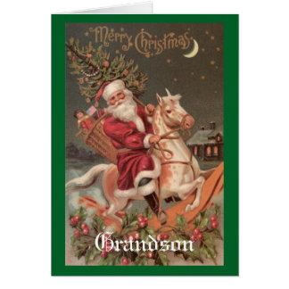 ヴィンテージのクリスマスの孫 カード