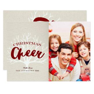 ヴィンテージのクリスマスの応援の原稿の休日の写真 12.7 X 17.8 インビテーションカード