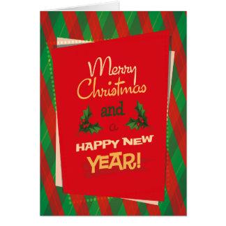 ヴィンテージのクリスマスの挨拶状 カード