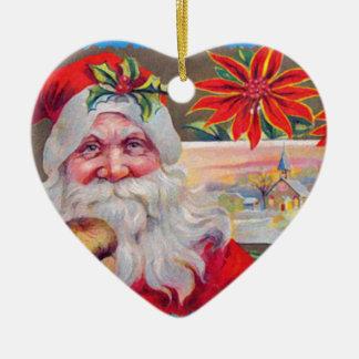 ヴィンテージのクリスマスの挨拶 セラミックオーナメント