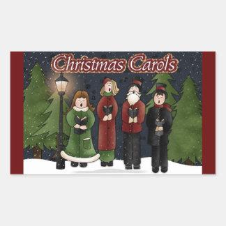 ヴィンテージのクリスマスの聖歌隊の長方形のステッカー 長方形シール