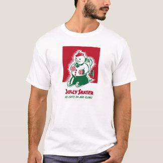 ヴィンテージのクリスマスの雪だるまのグラフィック Tシャツ