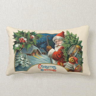 ヴィンテージのクリスマスのGreetinogの枕 ランバークッション