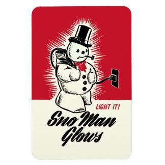 ヴィンテージのクリスマスのSnoの人は磁石光ります マグネット
