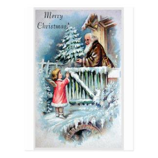 ヴィンテージのクリスマスカード ポストカード