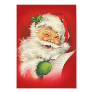 ヴィンテージのクリスマスサンタクロース カード