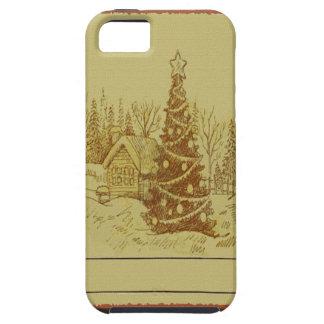 ヴィンテージのクリスマスツリー iPhone SE/5/5s ケース