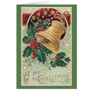 ヴィンテージのクリスマス鐘のメリークリスマス カード