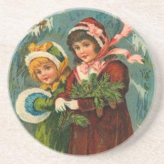 ヴィンテージのクリスマス コースター
