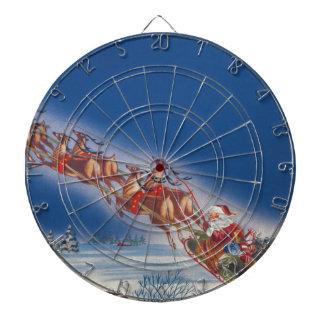 ヴィンテージのクリスマス、サンタの飛んでいるなそりwのトナカイ ダーツボード