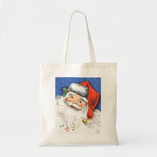 ヴィンテージのクリスマス、サンタクロースすてきなw音楽 トートバッグ