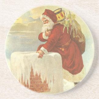 ヴィンテージのクリスマス、サンタクロースのビクトリアンな煙突 コースター