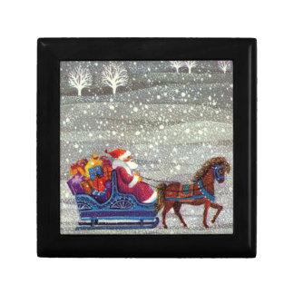 ヴィンテージのクリスマス、サンタクロースの馬の開いたそり ギフトボックス