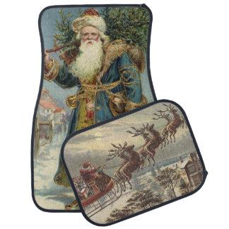 ヴィンテージのクリスマス、ビクトリアンなサンタクロース カーマット