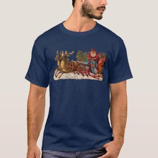 ヴィンテージのクリスマス-ビクトリアンなサンタクロース Tシャツ