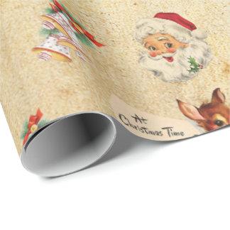 ヴィンテージのクリスマス ラッピングペーパー