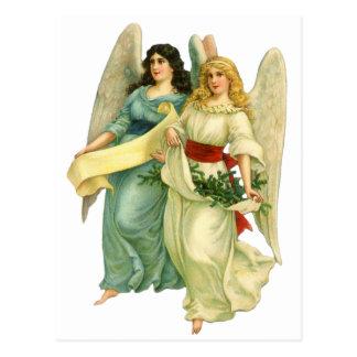 ヴィンテージのクリスマス、天使のビクトリアンな天使 ポストカード