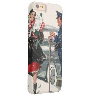 ヴィンテージのクリスマス、買物をするプレゼントの警官 BARELY THERE iPhone 6 PLUS ケース